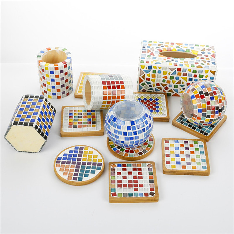 100g DIY Creative Diamond Mosaic Tiles Wall Crafts Handmade Decorative Materials Stained Glass Mosaic Arts Home Decoration-3