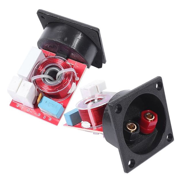 2 Way Hi-Fi Voice Frequency Divider Loudspeaker Crossover Filters 80W with Junction Box WEAH D222 Speaker Accessories