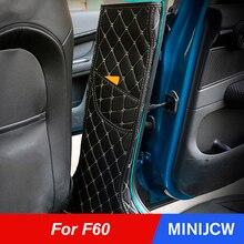 Porta do carro interior protetor anti kick esteira almofada decoração adesivo para mini cooper um s jcw countryman f60 acessórios do carro