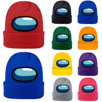 Hot among us Bonnet Beanie hats Game Among Us Knitted hat Cap Model Among Us Game Hip hop hat Keep Warm gift шапка зимняя 2020 image