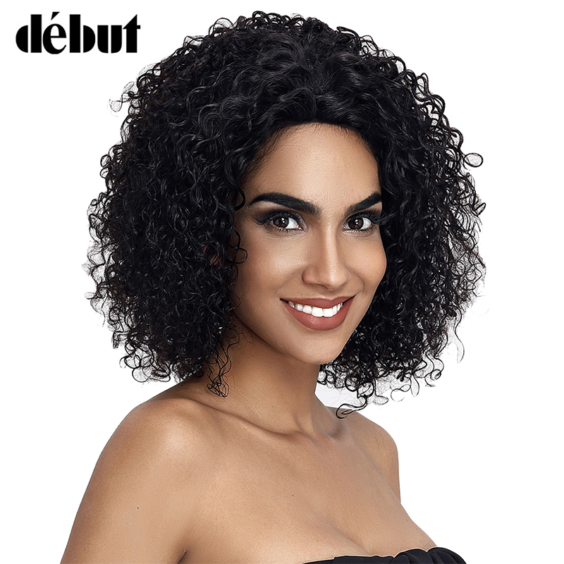 Debut Lace Front Human Hair Wigs For Women Wet And Wavy Curly Short Wigs For Black Women Brazilian Remy Bob Lace Front Wigs