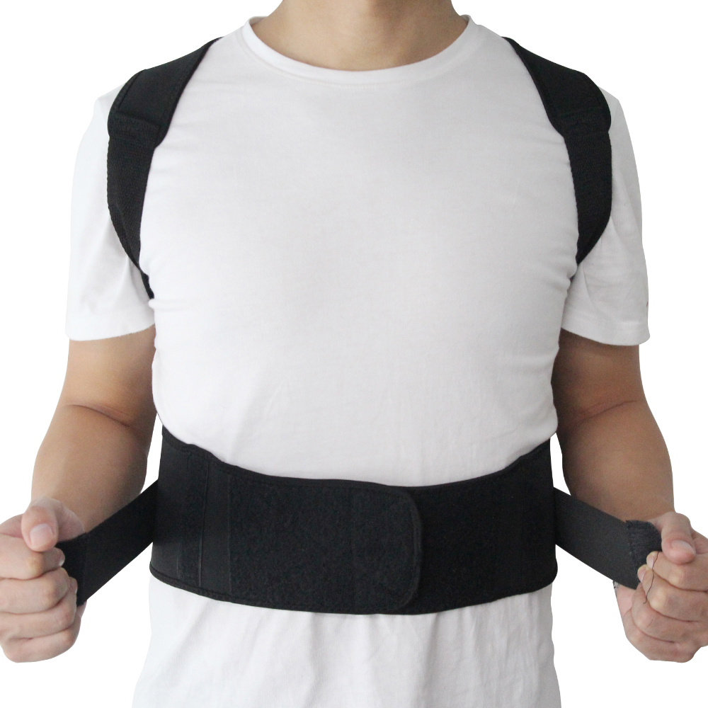 He7174203e7ad4546a9596a0202f1faf9r - Male Female Adjustable Magnetic Posture Corrector Corset Back Brace Back Belt Lumbar Support Straight Corrector de espalda S-XXL