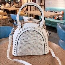 Handbags Women Rhinestone Female Luxury Leather Famous Designer Ladies Brand Sac Diamond