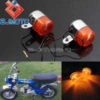 Motorcycle Amber Bulb Turn Signal Light Blinkers Flashers For Honda Z50 ST50 ST70 CT70 Turn Indicators