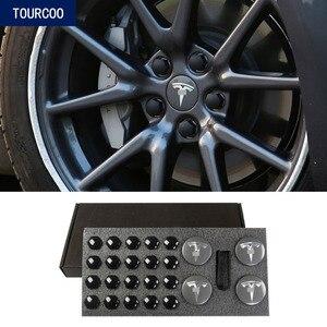 For Tesla Model 3 Wheel Hub Center Caps Screw Cover Car Modification Decoration Accessories(China)