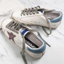 Новые товары, маленькие грязные туфли, Южная Корея, лето 2019, новые маленькие белые туфли, грязная обувь со старыми звездами, дымчатый синий ц...