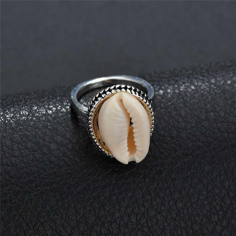 2019 ใหม่ Bohemian Shell แหวนแฟชั่นผู้หญิงแหวนหญิงเครื่องประดับแหวนหมั้นสุภาพสตรีผู้หญิงงานแต่งงานแหวนของขวัญเลดี้
