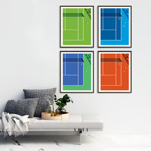 Póster de tenis Grand Slam, lienzo de decoración de arte de la pared, sala de estar impresiones para, habitación de niños, pintura decorativa para el hogar y el dormitorio