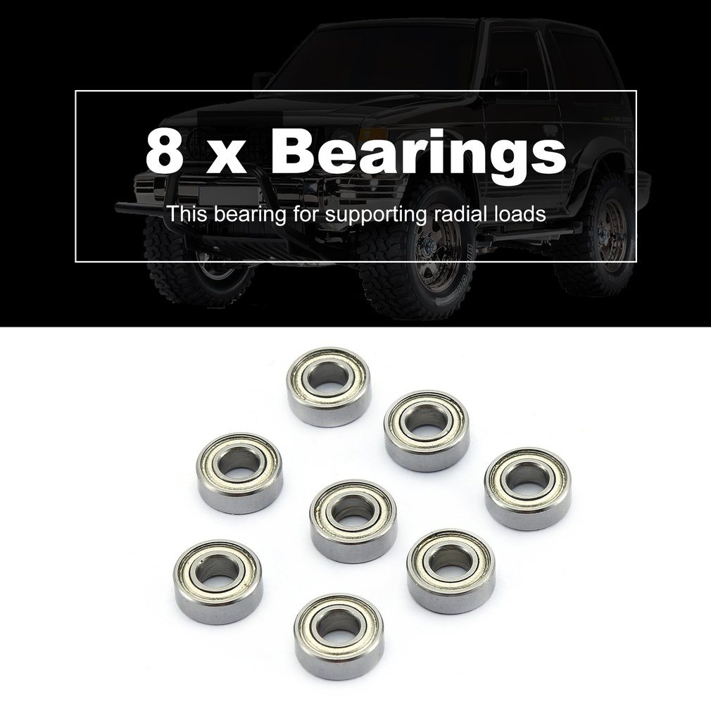 8PCS 11 5 4mm 15 10 4mm Metal Rolling Bearing Oil Bearing forA959 A979 WLtoys 1 10 RC Car Buggy Truck Hop up Parts in Parts Accessories from Toys Hobbies