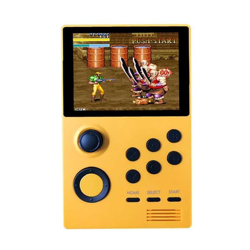 Monland A19 Android Supretro Consola de Juegos Retro de Mano IPS Pantalla Incorporada 3000 Juegos 30 Juegos 3D Naranja