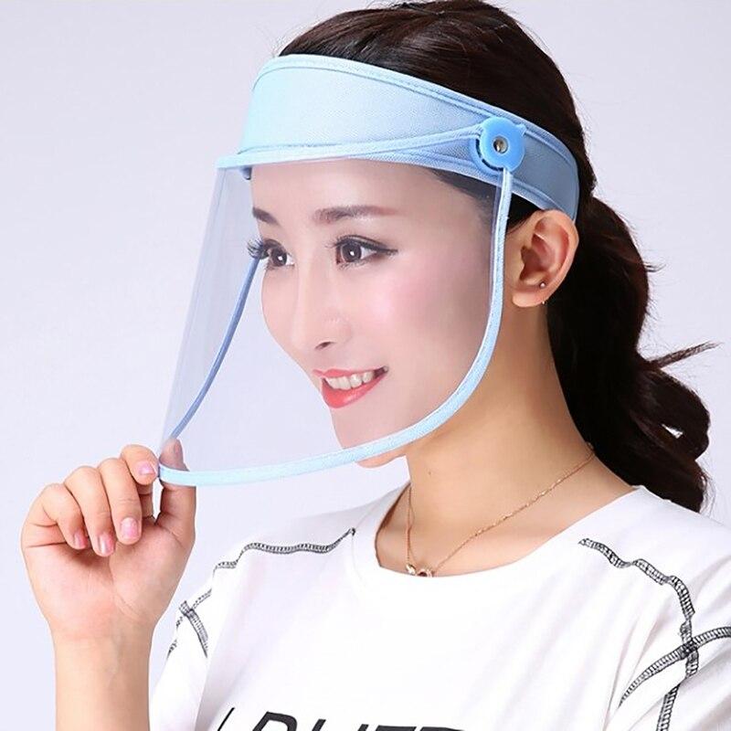 Transparent Adults Unisex Anti-spitting Hat Dustproof Cover Cap Bucket Hat Protection Caps Face Mask For Flu Fisherman Cap