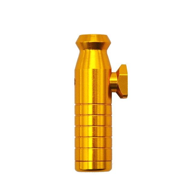 Aluminum Alloy Bullet Shape 53mm/2.09inch  Snuff Snorter Bottle Small Metal Sniffer Dispenser Tobacco Herb Powder Rocket Snorter