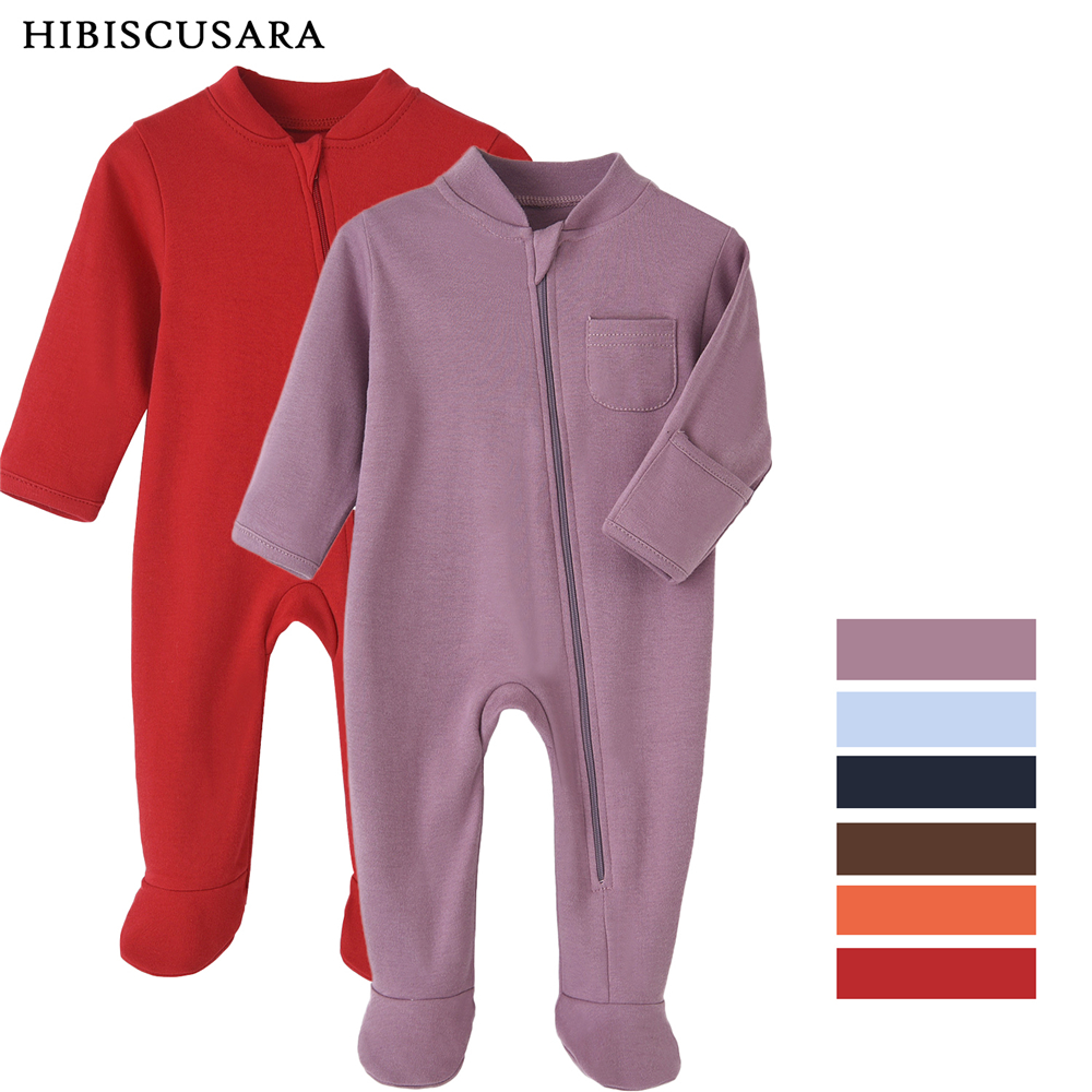 100% Cotton Newborn Baby Clothes Solid Color Jumpsuit Rompers