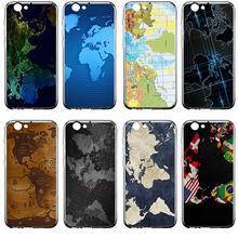 Caixa do telefone para samsung galaxy s2 s3 s4 s5 mini s6 s7 s8 borda s9 s10 plus lite silicone capa fundas mapa do mundo em madeira(China)