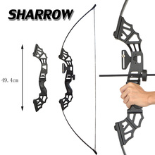 цена на Archery 53inch Alloy Straight Pull Bow 30/40/50lbs Recurve Bow  Hunting Shooting Training Game Bow Sports Compound Bow Darts