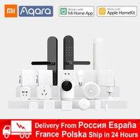 Xiaomi Aqara Kits de hogar inteligente Gateway Hub 3 pared inalámbrico interruptor de la lámpara Puerta de movimiento Sensor de temperatura módulo de relé de la Cámara de MI casa
