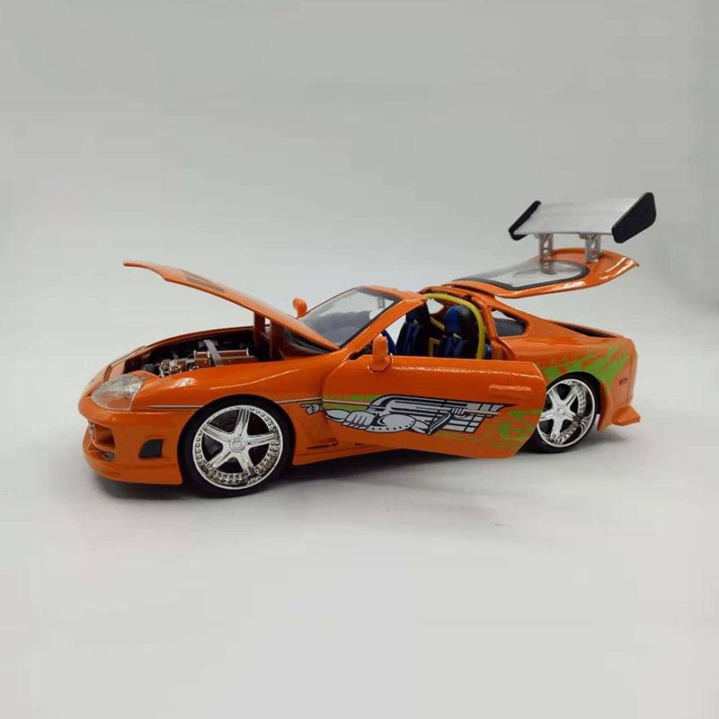 1/24 rápido f8 diecast liga de metal carro brian toyotas supra liga carro de corrida de rua modelo de carro brinquedo f crianças coleção presentes mostrar