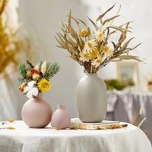 Nordic Home Decoration Vase Morandi Style Glass Home Vase Decorative Vases Ceramic for Living Room Arrangement Crafts Gift