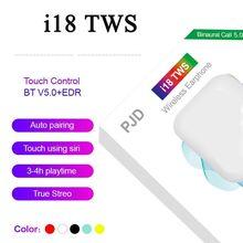 I18 TWS bezprzewodowe słuchawki Bluetooth 5 0 zestaw słuchawkowy dla Samsung Android iphone Xiaomi PK i7S i9s i12 i11 i14 i90 i30 PRO TWS tanie tanio HKNA NONE Dynamiczny CN (pochodzenie) wireless 168dB 20000mW Wspólna Słuchawkowe Dla Telefonu komórkowego Sport L Gięcia