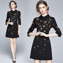 Zuoman для Женщин Осеннее элегантное платье с пайетками праздничное