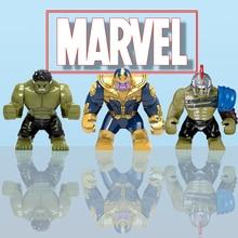 Big Size Building Block Legoily Marvel Super Hero Thanos Hulk Iron Man Spiderman Hulk Antman Batman Black Panther Toys Kids guxen hero hulk head
