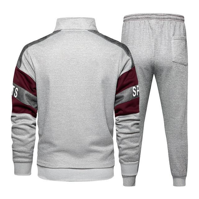 New Spring Mens Clothing Men Hoodie Sets Printing Suit Set Fleece Zipper Sweatshirt Casual Sport Sweatpants Mens Tracksuits 2021 3