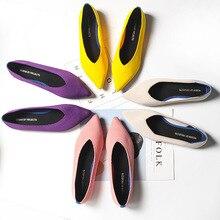 Kobiety płaskie buty Zapatos De Mujer jesień 2019 mokasyny baleriny Femme Tenis Feminino w stylu Casual, czarny dla pań Pointed Toe mieszkania