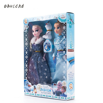 2019 Original Princess elsa doll Anna Children Girls Toys Birthday Christmas Gifts For Kids Sharon Dolls hot 3pcs princess anna elsa dolls for girls toys princess anna elsa dolls for girls toys 25cm pvc plastic baby dolls congelad