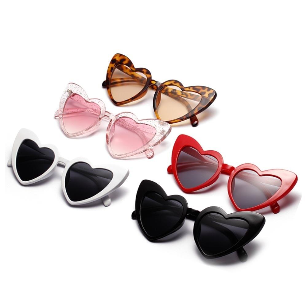 Retro Love Heart Shaped Glasses Ladies Shopping Driver Goggles Heart Sunglasses Women Brand Designer Cat Eye Sun Glasses