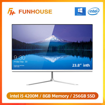 Funhouse 23.8 Inch Office Desktop All-In-One PC/1080P Intel Core I5 4200M 8G RAM 256G SSD ROM Intel HD Graphics 4600 AIO Set 1