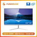 Funhouse 23,8 дюймовый офисный Рабочий стол все-в-одном ПК/1080P Intel Core I5 4200M 8G RAM 256G SSD ROM Intel HD Graphics 4600 AIO Set