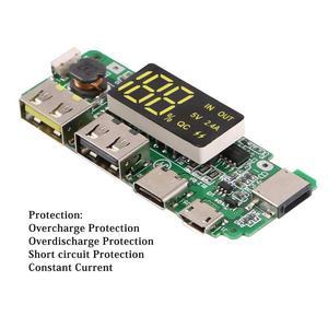 Image 4 - USB 2.4A נייד כוח בנק מודול סוללת מטען לוח תמיכת Dropshipping