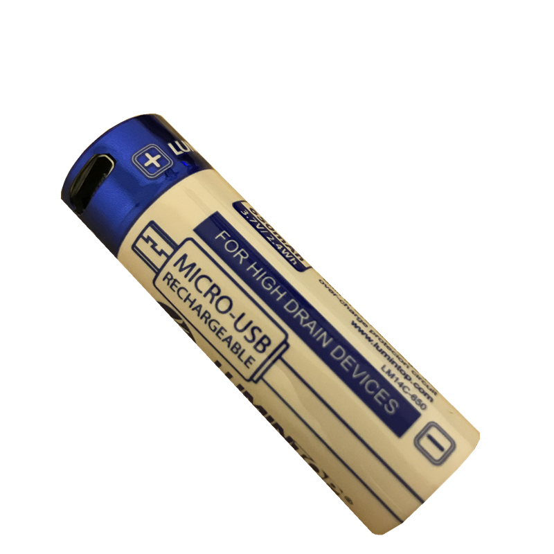 Lumintop 21700 16340 14500 26650 18650 Micro USB Rechargeable Battery For Flashlight Low Temperature 18650 Batteries