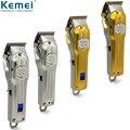 Kemei Профессиональная полностью Металлическая машинка для стрижки волос  Мужская электрическая машинка для стрижки волос  машинка для стриж...