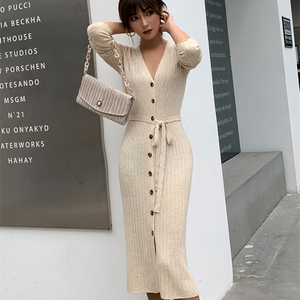 Image 3 - adohon 2019 woman winter 100% Cashmere sweaters and autumn knitted Cardigans High Quality Warm thickening V neck