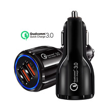 Dual Car USB Charger Quick Charge 3.0 2.0 Mobile Phone Charger 2 Port USB Fast Car Charger for iPhone Samsung Tablet Car-Charger цена 2017