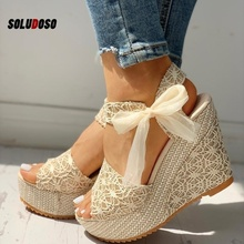 Women Fashion Summer Platform Wedge Sandals Ankle Strap Fish Mouth Espadrilles Sandalias Femininas Sandalen Sandales