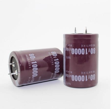 1pcs  Good Quality  63v 80V 100V 450V 10000uf  Radial DIP Aluminum Electrolytic Capacitors Tolerance 20% 450V1000UF