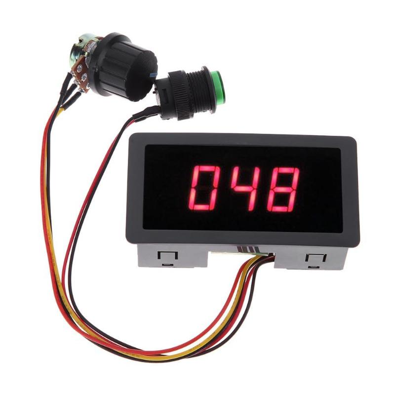 CCM5D Digital Display LED 6V 12V <font><b>24V</b></font> PWM <font><b>Motor</b></font> Controller Adjustable Speed <font><b>Control</b></font> Regulator Power-off Permanent Dropshipping image