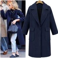 KANCOOLD New 2019 Women Woolen Coat Thicken Long Sleeve Medium long Turn down Collar Open Front Parka Belt Coat