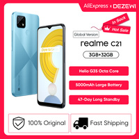 "Global Version realme C21 Smartphone Helio G35 Octa Core 3GB 32GB 6.5"" HD Display 5000mAh battery 3-Card Slot 13MP Triple Camera 1"
