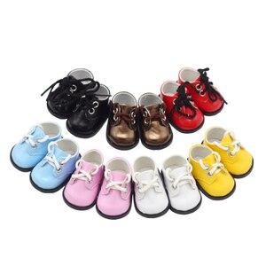 Image 2 - הגעה חדשה 5cm PU נעלי BJD בובת 14 אינץ אופנה מיני בובת נעלי EXO רוסית DIY בעבודת יד בובת אבזרים