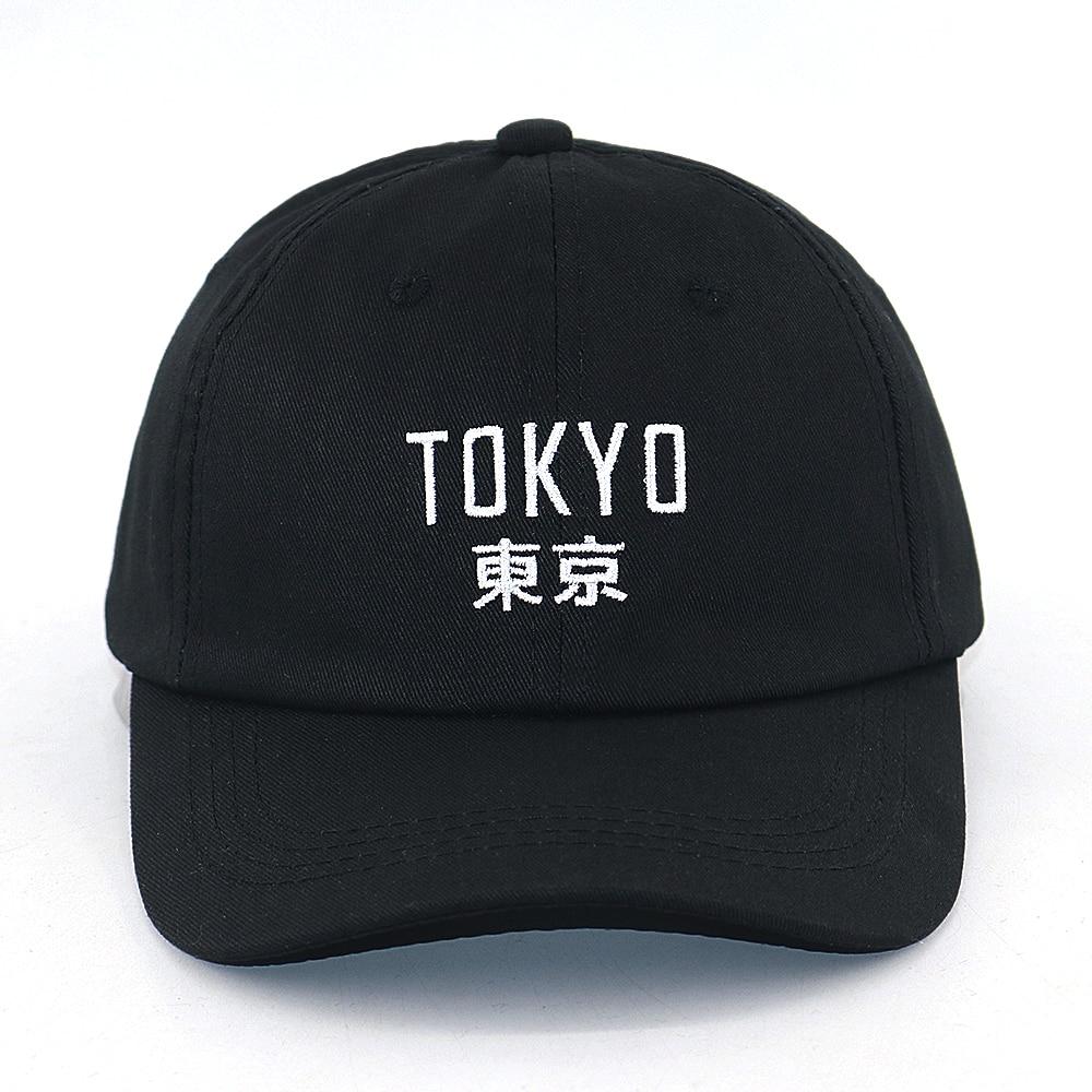 Disciplined New Arrival Japan Cap Tokyo City Embroidery Fashion Baseball Cap 100% Cotton Adjustable Black Hip Hop Snapback Hat