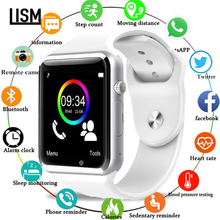 NEW A1 WristWatch Men Women Kid Bluetooth Smart Watch Sport Pedometer With SIM Camera Smartwatch for Android PK iwo 8 DZ09 watch 100pcs white self locking cable tie high quality nylon fasten zip wire wrap strap 2 5x100mm 2 5x150mm plastic