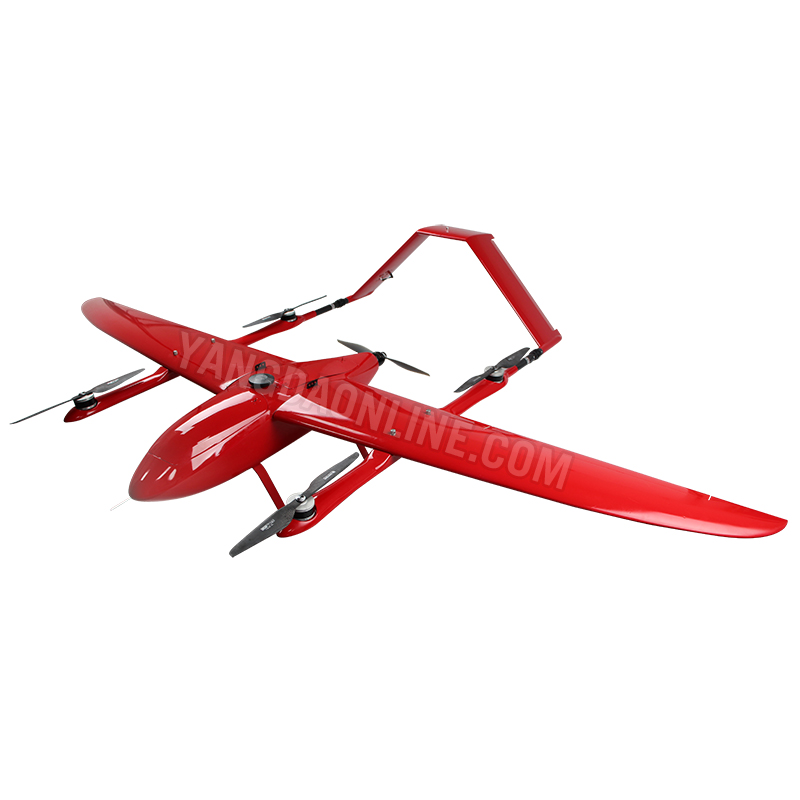 Fixed Wing VTOL drone 2kg payload 2hour endurance long range uav for rescue  inspection survey security and Surveillance