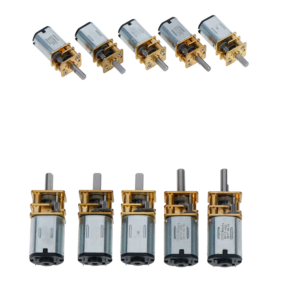 1PCS 6/12V DC Mini Micro Metal Gear <font><b>Motor</b></font> with Gearwheel DC <font><b>Motors</b></font> 20/30/<font><b>50</b></font>/100/200/300 <font><b>RPM</b></font> image