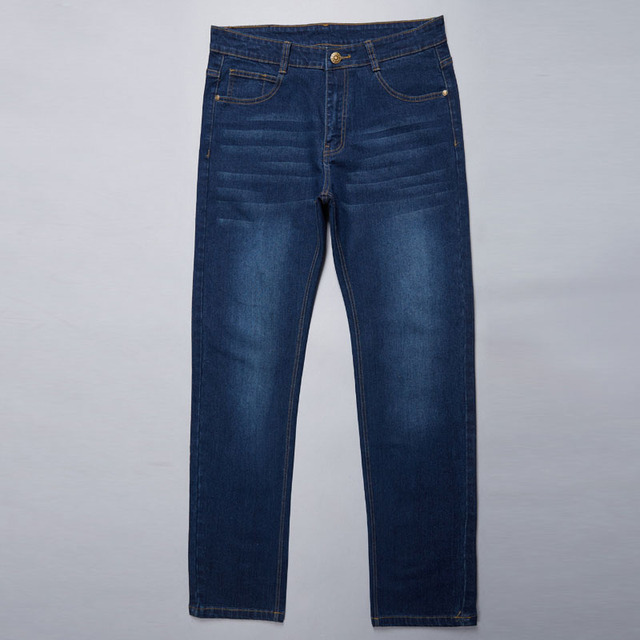 28-50 Big Size Man Pants High Stretch Straight baggy Trousers Fashion Casual Black Blue Denim Male Business Jeans Classic 64