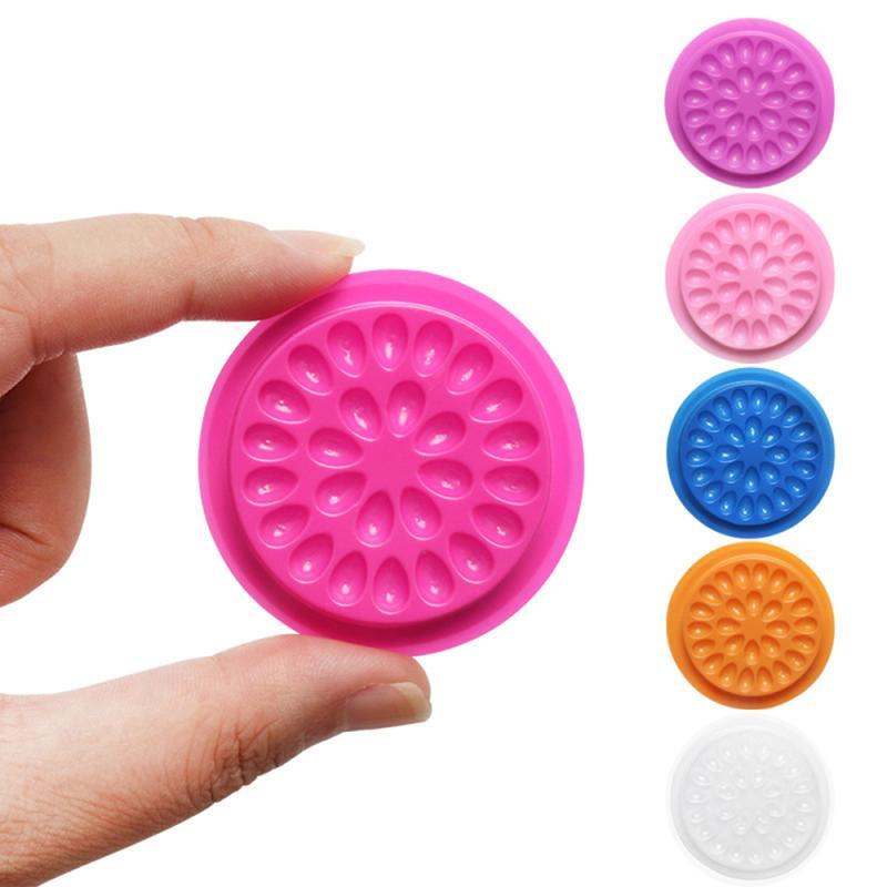 Eyelash Glue Holder Eyelash Glue Tray Gasket With Flower Tray Base Grafting False Eyelash Extension Planting Graft Eyelash Tools