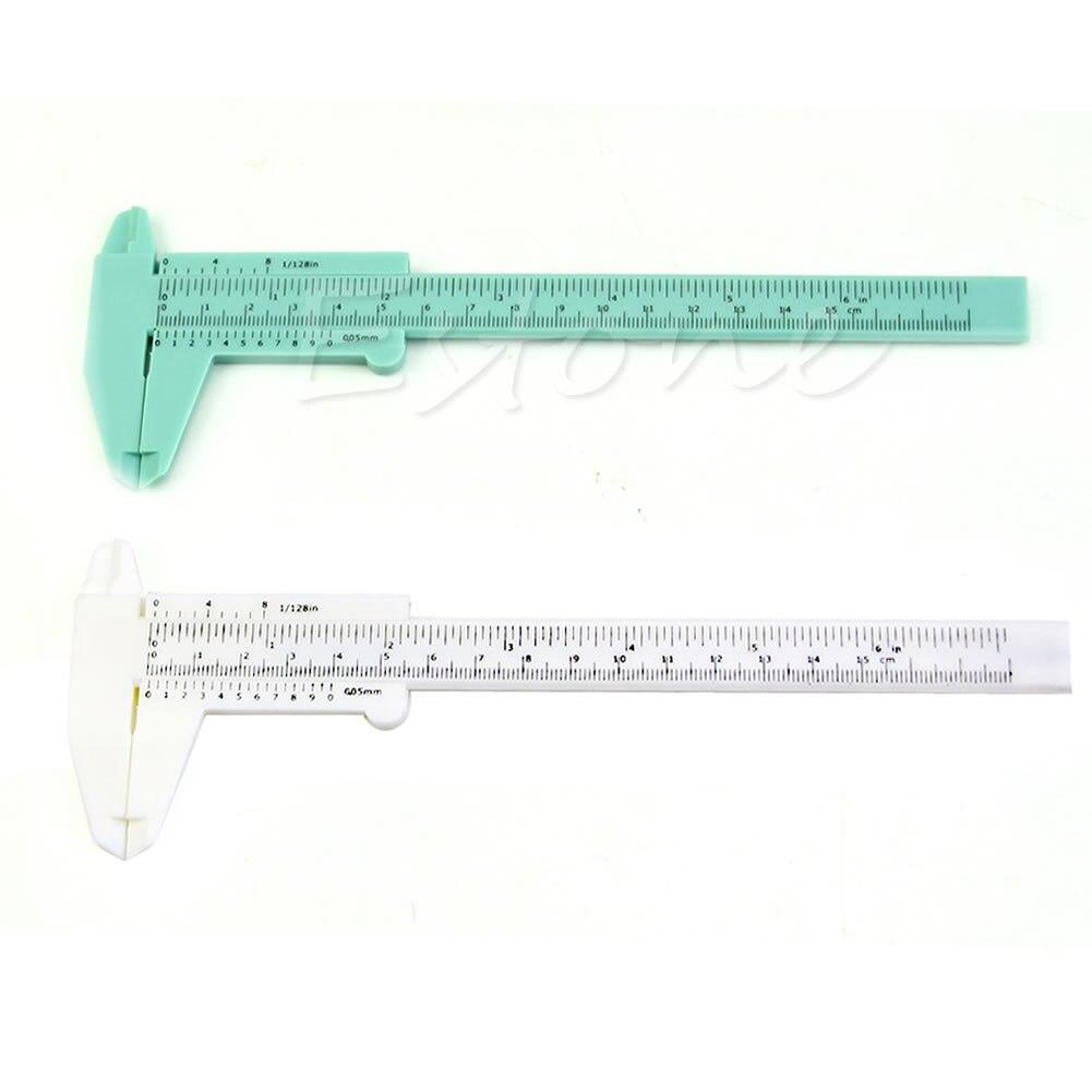 New 6Inch 150mm Plastic Ruler Sliding Gauge Vernier Caliper Jewelry Measuring