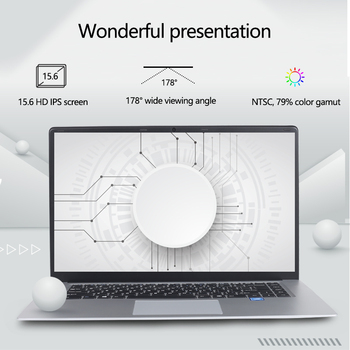 15.6 inch Laptop 8G RAM 128G 256G 512G 1TB SSD ROM Notebook Computer intel Core Quad Windows 10 Ultrabook For Students Laptops 2
